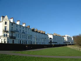 Filey sea front buildings