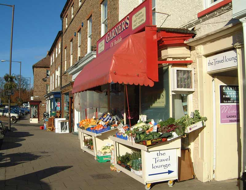Fruit shop in Bedale North Yorkshire